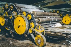 Wool production factory machine Stock Images