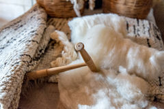 Wool Production Royalty Free Stock Photo