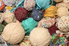 Wool and ragged ball Royalty Free Stock Photos