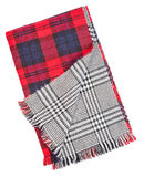 Wool red tartan plaid Royalty Free Stock Images