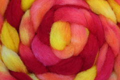 Wool roving. Clean, carded sheep wool roving ready for spinning and crafting Royalty Free Stock Photos