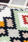 Wool rugs with different designs Stock Images