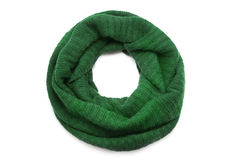 Wool scarf. On white background Stock Image