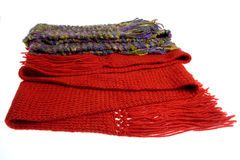 Wool scarfs Stock Photography