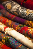 Wool scarfs Royalty Free Stock Photos