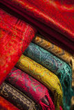 Wool scarfs Royalty Free Stock Images