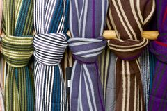 Wool scarves Stock Images