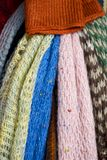 Wool scarves Stock Photo
