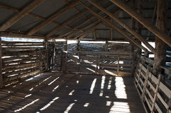 Wool shed inside Royalty Free Stock Photo