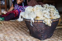 Wool of sheep Royalty Free Stock Photo