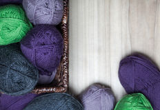 Wool Skanes in the Basket Royalty Free Stock Photography