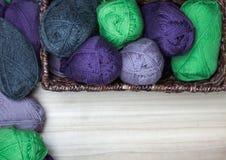 Wool Skanes in the Basket Royalty Free Stock Image