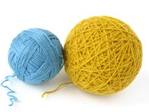Wool skeins Stock Photos