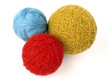 Wool skeins Royalty Free Stock Images