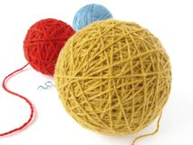 Wool skeins Stock Photography