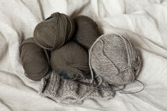 Wool skeins Royalty Free Stock Photos