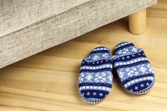 Wool slippers Stock Images