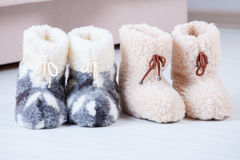 Wool slippers Stock Photography