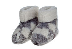 Wool slippers Royalty Free Stock Photos
