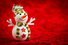 Wool Snowman Stock Photography