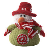 Wool snowman Stock Image