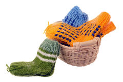 Wool socks Royalty Free Stock Images
