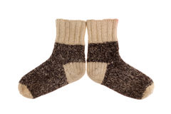 Wool socks close up Stock Photos