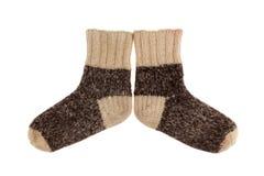 Wool socks close up. Object on white - wool socks close up Stock Photos