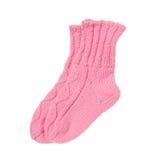 Wool socks isolated. Baby wool socks isolated on white Stock Photo