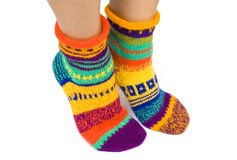 Wool Socks Isolated on White Royalty Free Stock Photography