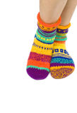 Wool Socks Isolated on White Royalty Free Stock Photos