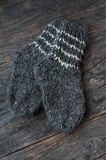 Wool socks on a wooden background Stock Images