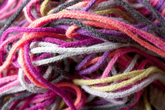 Wool strands background Stock Photo