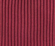 Wool Texture. High resolution close-up image of red knitted wool Stock Image