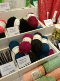 Wool threads of different colours Royalty Free Stock Photography