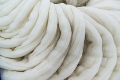 Wool tops for spinning process Stock Photo