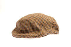 Wool tweed gentlemen's cap Royalty Free Stock Photography