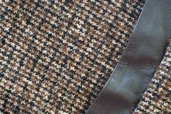 Wool or Tweed texture background Stock Images