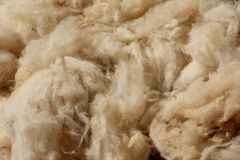 Wool. Waiting in bags outside a store in Meknes, Morocco Royalty Free Stock Photography
