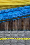 Wool weaving  Stock Image