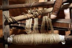 Wool winder machine. Old wool winder machine, knitting wool Stock Images