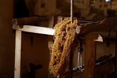 Wool winder machine. Old wool winder machine, knitting wool Stock Photography