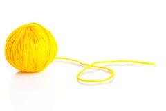 Wool yarn ball isolated on white. Stock Photos