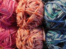 Wool yarn. Colorful wool yarn closeup photograph Royalty Free Stock Images