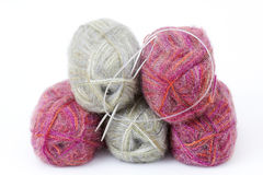Wool yarns Royalty Free Stock Photos