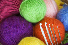 Wool yarns Stock Images