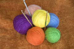 Wool yarns Royalty Free Stock Image
