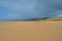 Woolacombe海滩,北德文区,英国 免版税库存照片