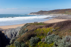 Woolacombe bay and beach Devon England and Morte Point Royalty Free Stock Image