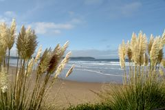 Woolacombe Bay on the Bristol Channel, North Devon Stock Image